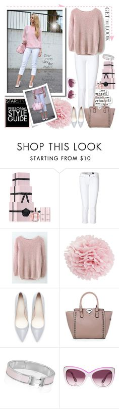 """""""Street style with a fluffy Pink sweater - get the look !"""" by firstclass1 ❤ liked on Polyvore featuring Viktor & Rolf, Kate Spade, AG Adriano Goldschmied, Chicwish, Guide London, Miss Etoile, Zara, Hermès, Vivienne Westwood Anglomania and StreetStyle"""
