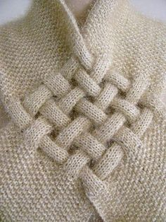 Design Inspiration | woven strips on scarf