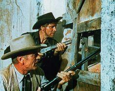 Still of Gary Cooper and Burt Lancaster in Vera Cruz