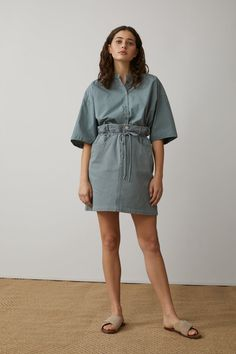 COTTON TWILL SKIRT | CLOSED Blouse Dress, Long Blouse, Silk Dress, Dress Skirt, Cotton Cardigan, Cotton Pants, Cotton Blouses, Jupe Crayon Denim, Leaf Skirt