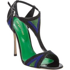 Sergio Rossi Beaded T-Strap Sandal~ I need these beauties