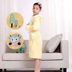Cotton Robe Solid Kids/Child Youth Towel Bathrobes Comfort Wear New High Quality #MMY #Robe