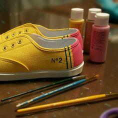 No. 2 Pencil Shoes New Dixon Ticonderoga Style by ShopJustWish