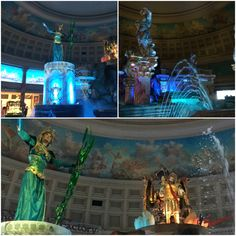 To See- CAESARS PALACE The Fall of Atlantis is a FREE show located inside the Ceasar's Palace Forum Shops. All my guests love coming here and enjoy the free show. It's conveniently located at the end of the mall next to Cheesecake Factory Restaurant. (5 free things to do in Las Vegas--Fall Of Atlantis)