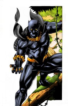 Black Panther colored by rapnex on @deviantART
