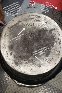 Wagner cast iron or Wagner Ware are some of the finest vintage cast iron cookware. Learn the history, dating, logos of Wanger Manufacturing Company. Iron Skillet Recipes, Cast Iron Skillet, Vintage Cast Iron Cookware, Wagner Cast Iron, Frying Pans, Dutch Oven, Dates, Restoration, It Cast