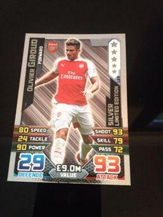 Match attax 15//16 Olivier Giroud bronze carte édition limitée