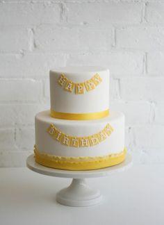 Yellow birthday cake on Pinterest | Yellow birthday cakes, Yellow ...