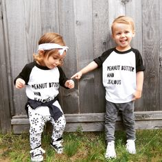 Peanut Butter and Jealous Raglan / King and Sage. Little and lively triangle leggings and Zara kids leggings, June and January headband and converse shoes. Cute Outfits For Kids, Cute Kids, June And January, Zara Kids, Trendy Kids, Mom Style, Jealous, Screen Printing, Graphic Tees