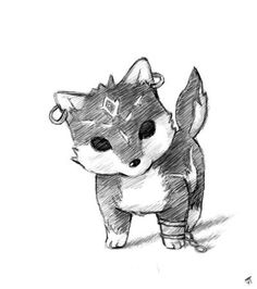 Wolf-Link Chibi By: Franziloni.... OH MY GOD THE CUTENESS!!!!