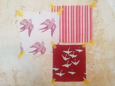 Katia Vermilion Red, Palermo Stripe Geranium, Geese Vermilion Red