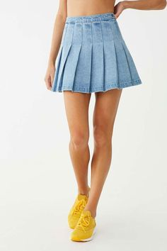 Forever 21 is the authority on fashion & the go-to retailer for the latest trends, styles & the hottest deals. Shop dresses, tops, tees, leggings & more! Pleated Mini Skirt, Denim Mini Skirt, Mini Skirts, Cotton Frocks For Kids, Mini Frock, Skirt Outfits Modest, Frock For Women, Baby Dress, Fall Outfits