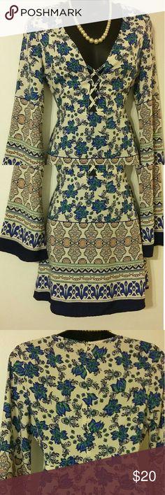PRICE REDUCED! ! I  Dress Multicolor floral design dress Chico's Dresses Midi