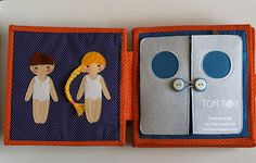 Handmade cloth quiet busy book for Sergio, dressing boy and girl felt dolls, развивающая книжка