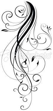 Vine tattoo Flourish Scrolls