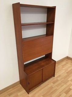 HERBERT GIBBS VINTAGE MID CENTURY 70S TEAK ROOM DIVIDER UNIT AND RECORD STORAGE | Sideboards, Buffets & Trolleys | Furniture - Zeppy.io