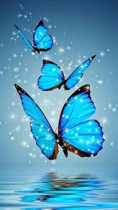 Purple Butterfly Wallpaper, Wallpaper Nature Flowers, Butterfly Background, Beautiful Landscape Wallpaper, Colorful Wallpaper, Android Wallpaper Blue, Blue Wallpapers, Pretty Wallpapers, Galaxy Wallpaper