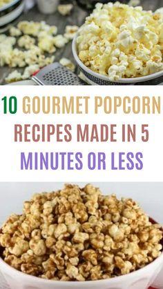 Sweet Popcorn Recipes, Snack Mix Recipes, Gourmet Popcorn, Top Recipes, Food Network Recipes, Gourmet Recipes, Baking Recipes, Salty Snacks, Pop Pop