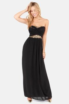 Talk of the Gown Black Sequin Maxi Dress- I WANT THIS. I NEED A REASON TO WEAR IT SO I HAVE A REASON TO BUY IT