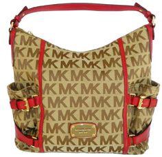 Michael Kors Handbag Gansevoort Large Shoulder Bag Signature Logo Jacquard Beige/Ebony/Red MICHAEL Michael Kors http://www.amazon.com/dp/B00EOWBMK2/ref=cm_sw_r_pi_dp_LMQpvb1MQGK9S