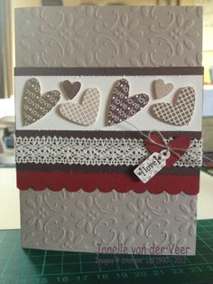 card by Janelle van der Veer.... cute card for an anniversary!