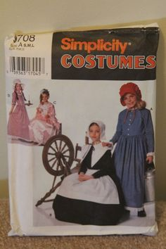 SIMPLICITY 9708 COSTUMES  PIONEER-SIMILAR TO AMERICAN GIRL KIRSTEN SIZE A Sewing Tools, Girl Dolls, American Girl, Costumes, Best Deals, Clothes, Outfits, Clothing, Dress Up Clothes