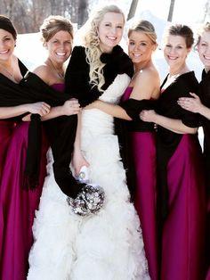 Winter Wedding Bridesmaids, Brides And Bridesmaids, Winter Weddings, Wonderland Events, Winter Wonderland Wedding, Wedding Looks, Dream Wedding, Wedding Stuff, Wedding Wishes