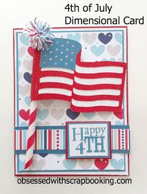 Obsessed with Scrapbooking: 4th of July Cricut Summer Celebrations Card