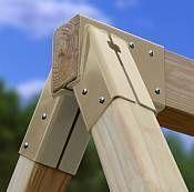 Settler A-Frame Swing Beam Kit - Freetstanding EASY DIY build Plans & Hardware Settler Swing Beam Kit - EASY to build Plans & Hardware<br> Settler Wooden A-Frame Swing Set kit - Perfect Do it Yourself afternoon project. Swing Set Kits, A Frame Swing Set, A Frame Cabin, A Frame House, Swing Set Plans, Swing Set Brackets, Swing Sets, Wooden Swing Frame, Build A Swing Set