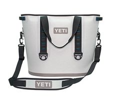 Camping Kitchen :Yeti Hopper Cooler 40 Fog Gray/Tahoe Blue ** Awesome product. Click the image