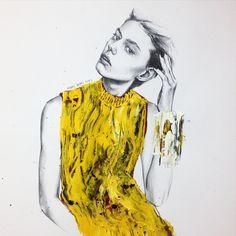 ambr @ondriahardinofficial #ondriahadin#fashionillustration#fashiondrawing #fashion#androgyny #androgynous #artwork #artes #art#instaart #imperfect #inspiration #illustration #painting #pencil #acrylic #yellow#texture #skin #karnkarnillustration #model #models#イラスト #ファッションイラスト #ファッション #絵