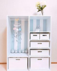 Mowmow-babyさんはInstagramを利用しています:「#29w2d 我が家の #ベビークローゼット ♡ ちょっとずつものが増えてきた♡ . よくおしゃれな方が撮影とかに使ってる #アルファベットブロック ? #アルファベットオブジェ ?欲しいなぁと思ったんだけど、調べてみると結構いいお値段⚡︎…」 My Room, Girl Room, Playroom Art, Kid Closet, Toy Storage, Kid Spaces, Baby Decor, Cool Baby Stuff, House Rooms