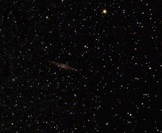 NGC 891 an edge on Galaxy that's 30 million light years away. Keep in mind 1 light year is about 6 trillion miles.