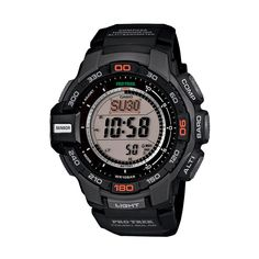 7d8a51ee83f Casio Men s PRO Trek Solar Digital Chronograph Watch