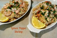 Indulge in the simplicity of this easy anytime dish of Lemon Pepper Shrimp.