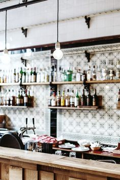 Fleischerei Bar/Cafe in Leipzig, Germany. Restaurant Branding, Cafe Restaurant, Restaurant Design, Little Black Bird, Café Bistro, Lovely Shop, Tasting Room, Cafe Bar, Fine Dining