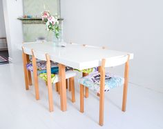 Kitchen table made together with Vallila Interior