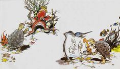Circle Outline, Korean Art, Korean Style, 2d Art, Folklore, Korean Fashion, Rooster, Painting, Animals
