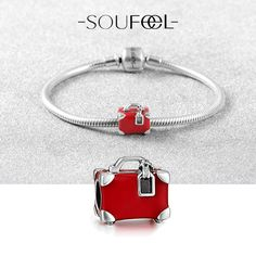 A Story Of Suitcase Bracelet 925 Sterling Silver, SOUFEEL Jewelry,for every memorable day!