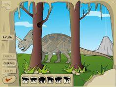 Con este juego podrás formar cinco dinosaurios diferentes. Debes colocar la cabeza, el cuerpo y la cola de forma correcta para descubrir de ...