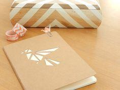 DIY: un carnet façon origami et son trombone assorti