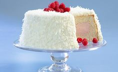 Raspberry-Coconut Cloud Cake from America's Test Kitchen. Looks surprisingly easy! Step 1: Start with store-bought cake!