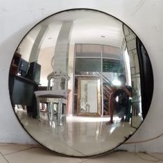 Convex Mirror, Round Wall Mirror, Round Mirrors, Mirrored Furniture, Venetian Mirrors, Golden Color, Wall Decor, Antiques, Glass