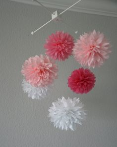 Party Pom Baby Mobile  Baby's Room Decor / Nursery by PartyPoms, $40.00