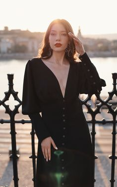 #orovica #shirtdress #lbd 21st Dresses, Shirtdress, Every Woman, Lbd, Cold Shoulder Dress, Dresses With Sleeves, Long Sleeve, Black, Women