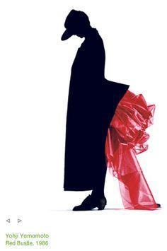 sarah wingate, red bustle, yohji yamamoto, autumn/winter 1986 - shot by nick knight Yoji Yamamoto, Sophie Dahl, Photoshop Images, Gothic Lolita Fashion, Post Punk, World Of Fashion, Fashion 2016, 80s Fashion, Woman Fashion