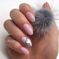Winter Nails Designs - My Cool Nail Designs Cute Gel Nails, Cute Acrylic Nails, Gel Nail Art Designs, Winter Nail Designs, Pink Nail Art, Yellow Nails, Xmas Nails, Christmas Nails, Plain Nails