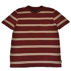 Brixton - Hilt Men's S/S Pocket Knit Tee, Burgundy