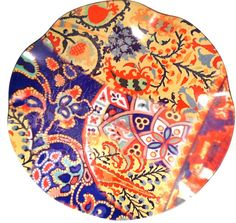 patterns poetic wanderlust- by tracy porter - printed + handmade in California POPPY Large Round Tray Textile Patterns, Print Patterns, Textiles, Tracy Porter, California Poppy, Round Tray, Needlepoint, Tablescapes, Poppies