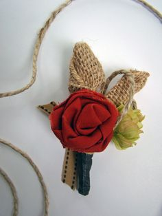 Rustic Wedding Boutonniere Hops Grooms Fall Fabric by TwiningVines, $12.00